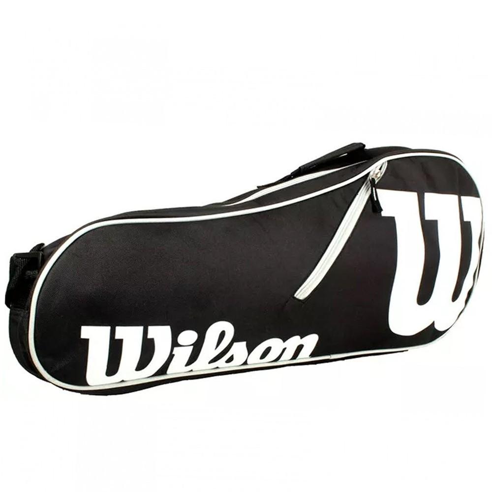 Raqueteira Wilson Advantage X3 Preto/Branco