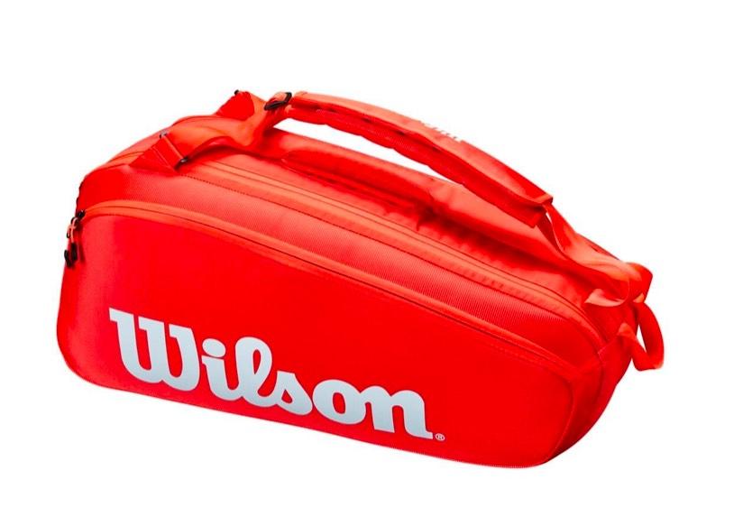 Raqueteira Wilson Super Tour 6Pk Vermelha