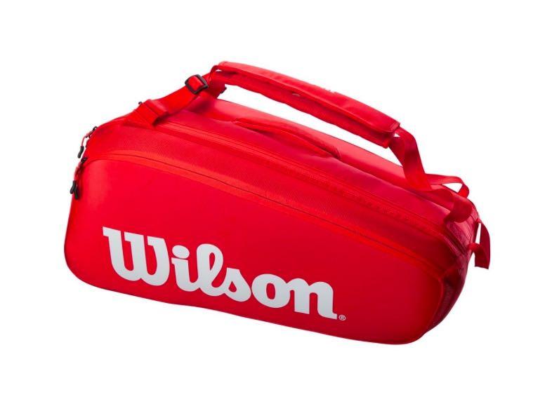 Raqueteira Wilson Super Tour 9Pk Vermelha
