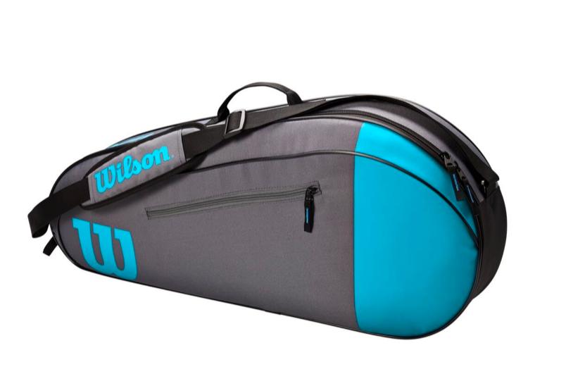 Raqueteira Wilson Team X3 - Azul/Cinza