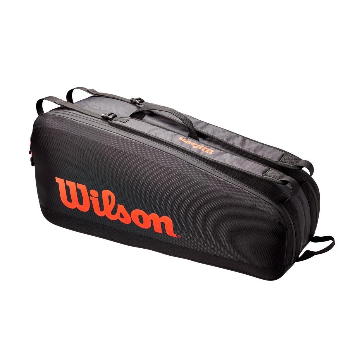 Raqueteira Wilson Tour 6 PK Preta/Vermelha