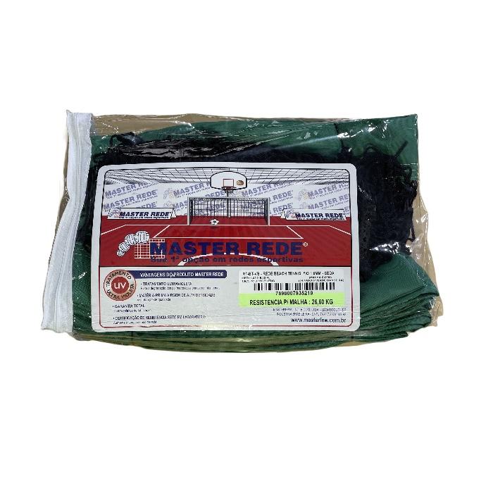 Rede de Beach Tennis Master Rede Fio 1,5mm Seda - Verde