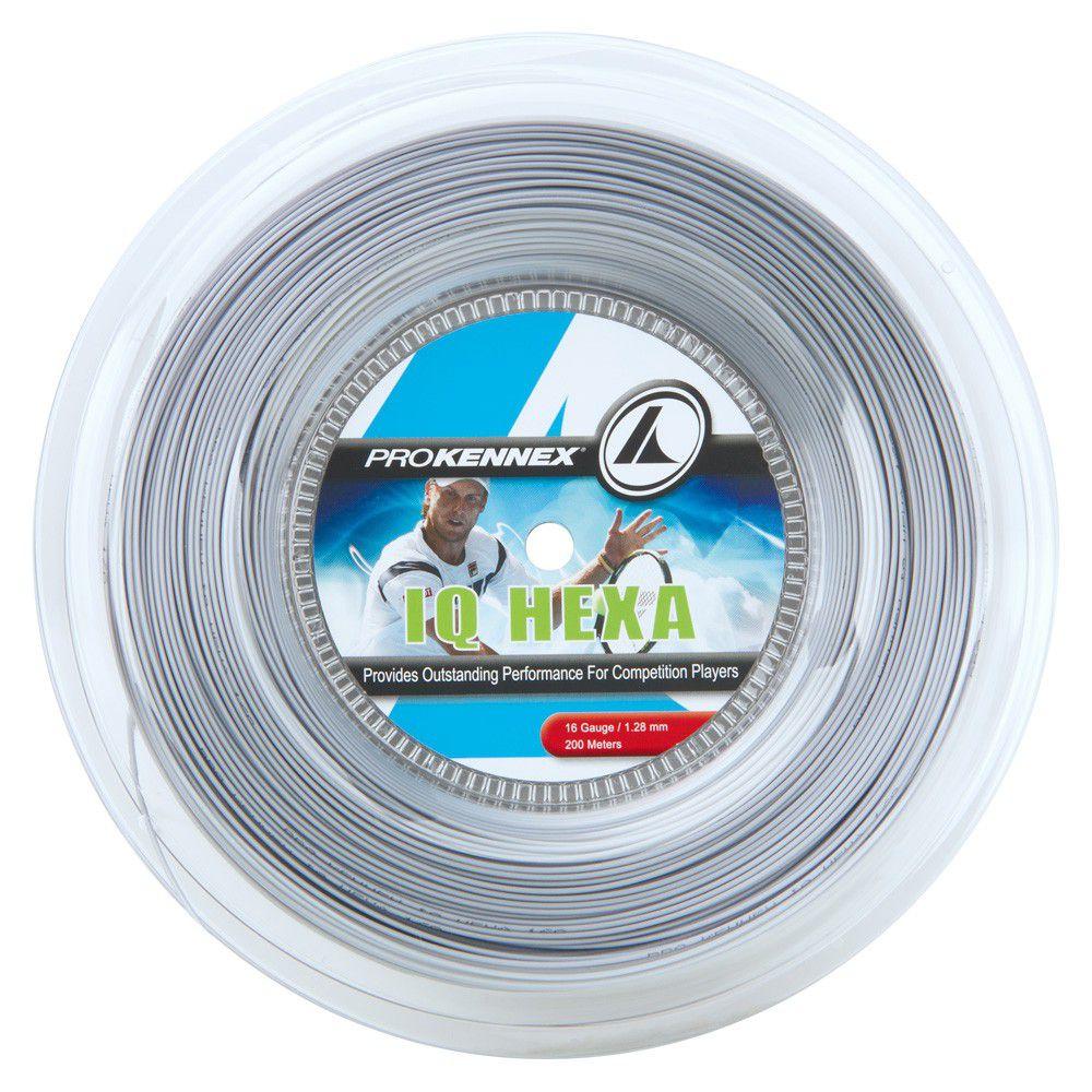 Corda ProKennex IQ Hexa 1.28mm Prata - Rolo com 200m