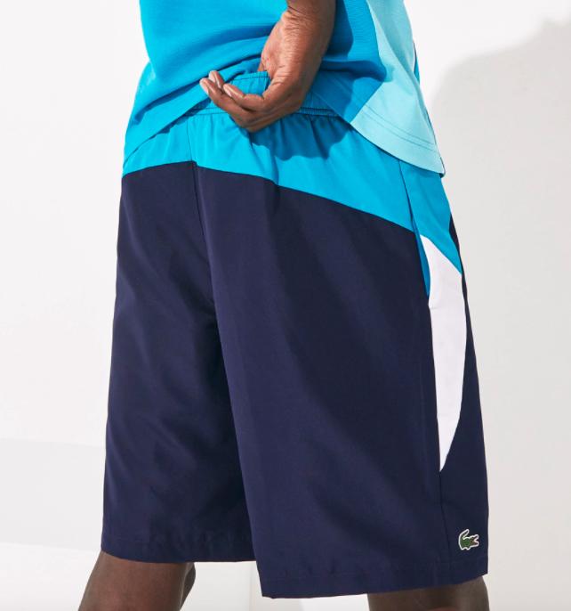 Shorts Lacoste Azul Turquoise/Azul Marinho GH4760 21 RPV