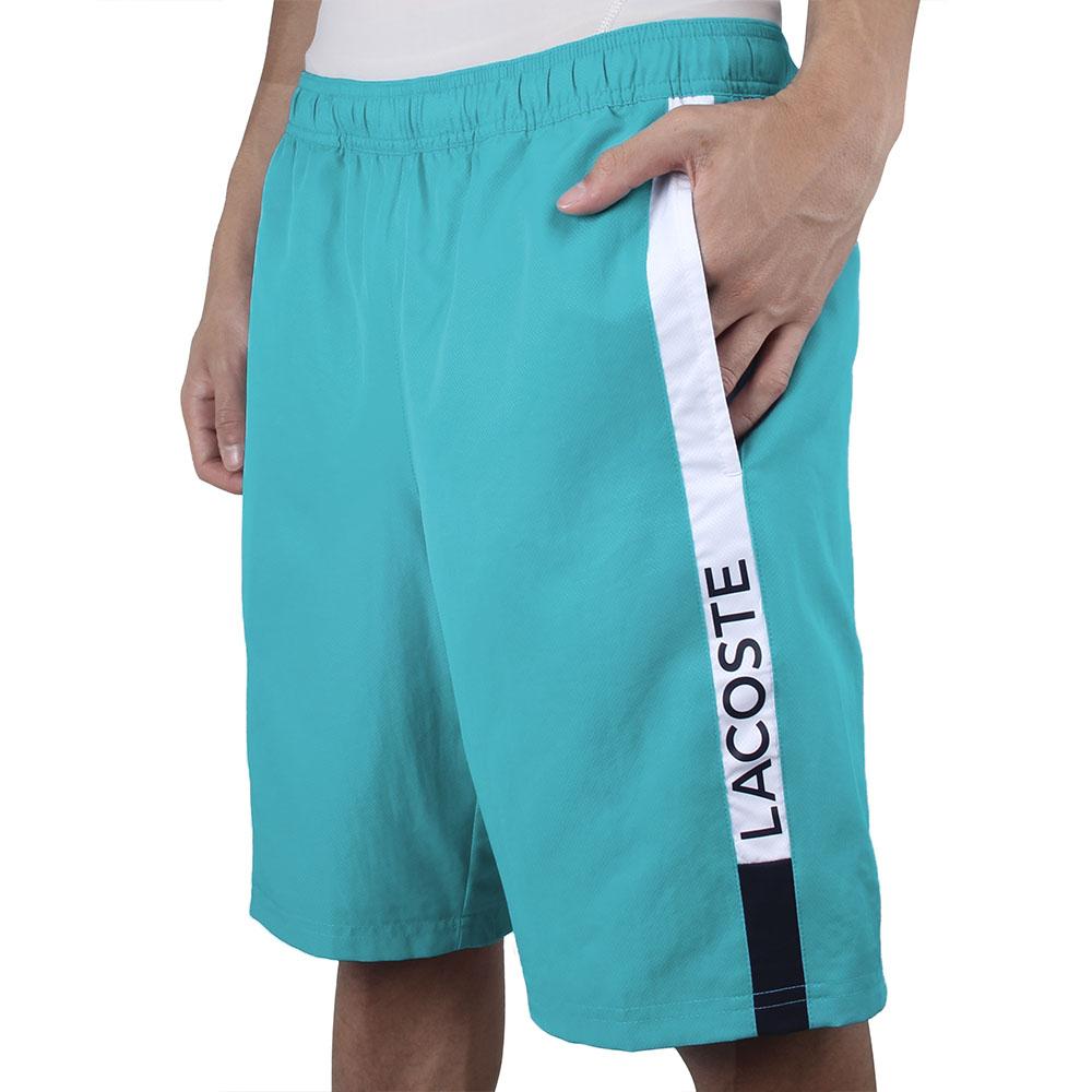 Shorts Lacoste Azul Turquoise/Branco GH4860 21 XZ7