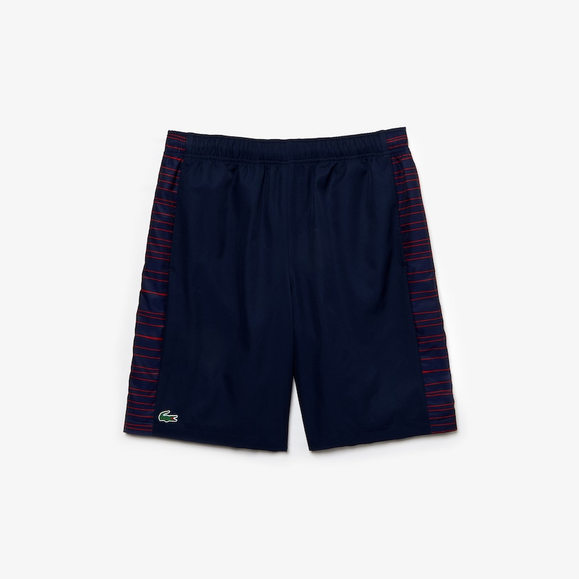 Shorts Lacoste Faixas Laterals Azul Marinho/Vermelho GH7965 21 551