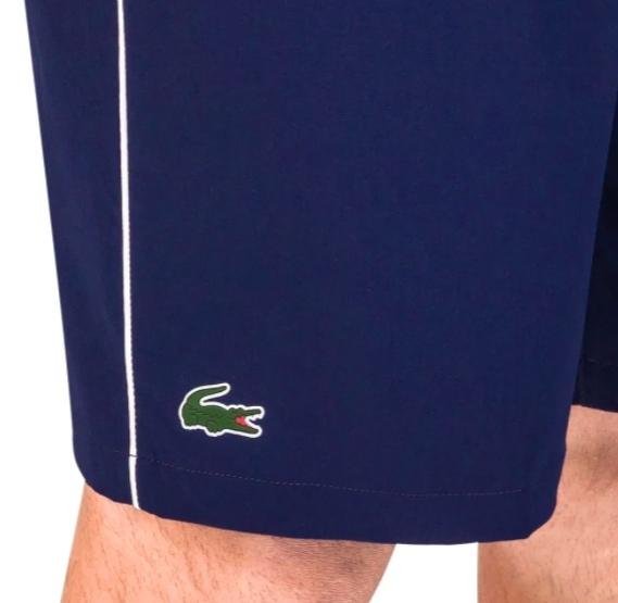 Shorts Lacoste Sport Novak Djokovic Stresch Azul Marinho GH6661 21 525