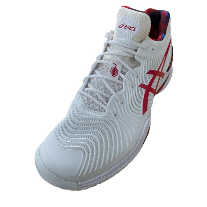 Tênis Asics Court FF Novak - White/Classic Red