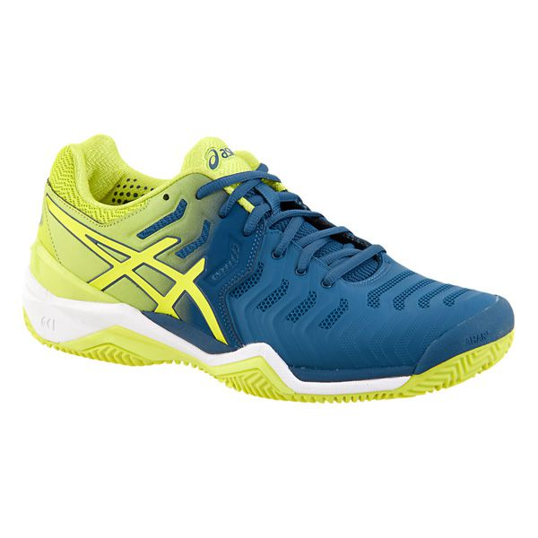 Tênis Asics Gel Resolution 7 Clay - E702Y4589 - Ink Blue/Sulphur Spring/White