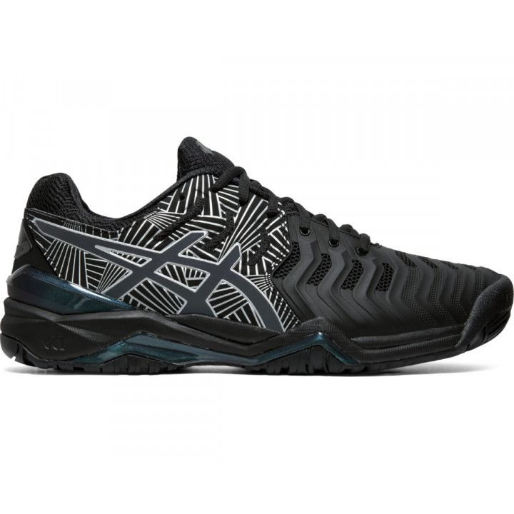 Tênis Asics Gel Resolution 7 L.E. - Black/Silver