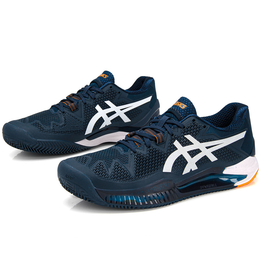Tênis Asics Gel-Resolution 8 Clay - French Blue/White