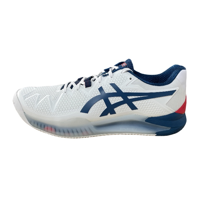 Tênis Asics Gel-Resolution 8 Clay - White/Mako Blue