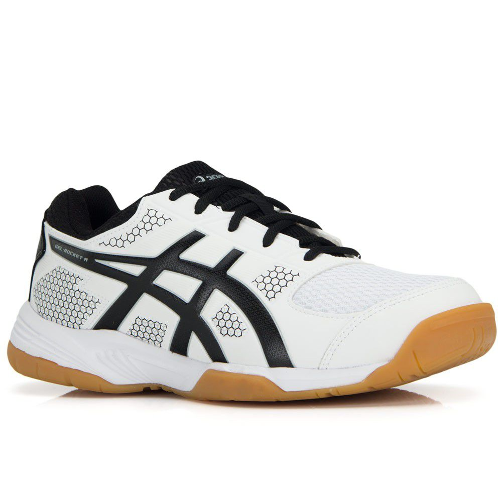 Tênis Asics Gel Rocket 8 A - White/Black/Silver