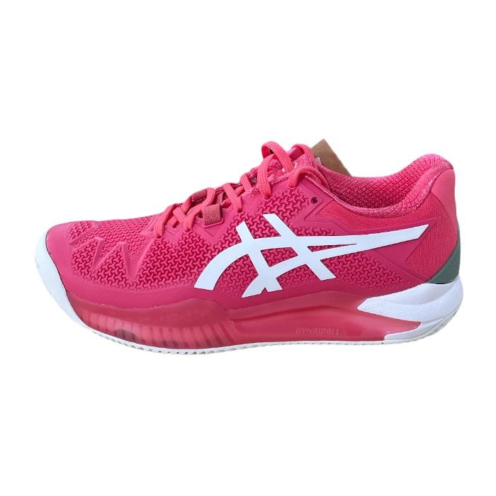 Tênis Feminino Asics Gel-Resolution 8 Clay - Pink Cameo/White