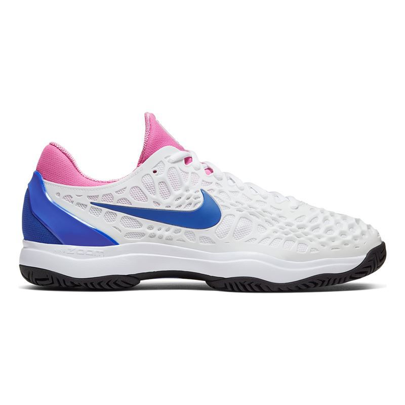 Tênis Nike Air Zoom Cage 3 HC - Branco/Rosa