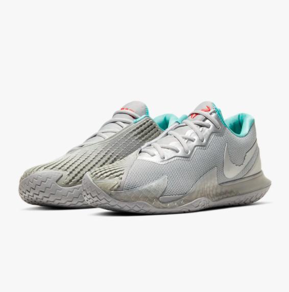 Tênis Nike Air Zoom Vapor Cage 4 HC - Metallic Silver