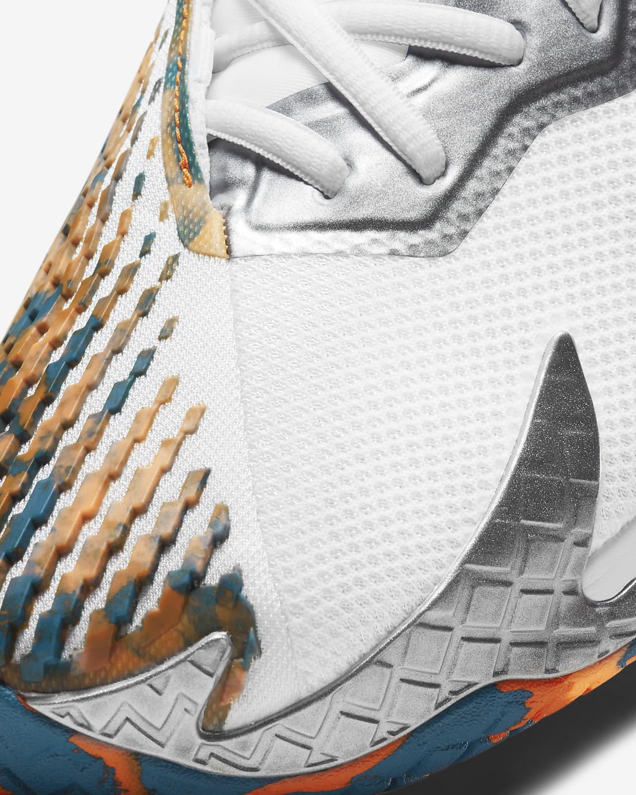Tênis Nike Air Zoom Vapor Cage 4 HC - White/Team Orange-Green Abyss