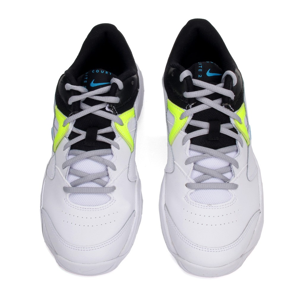 Tênis Nike Court Lite 2 - White/Neo Turq-Hot Lime