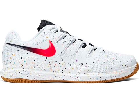 Tênis Nike Zoom Vapor X HC - White/Laser Crimson