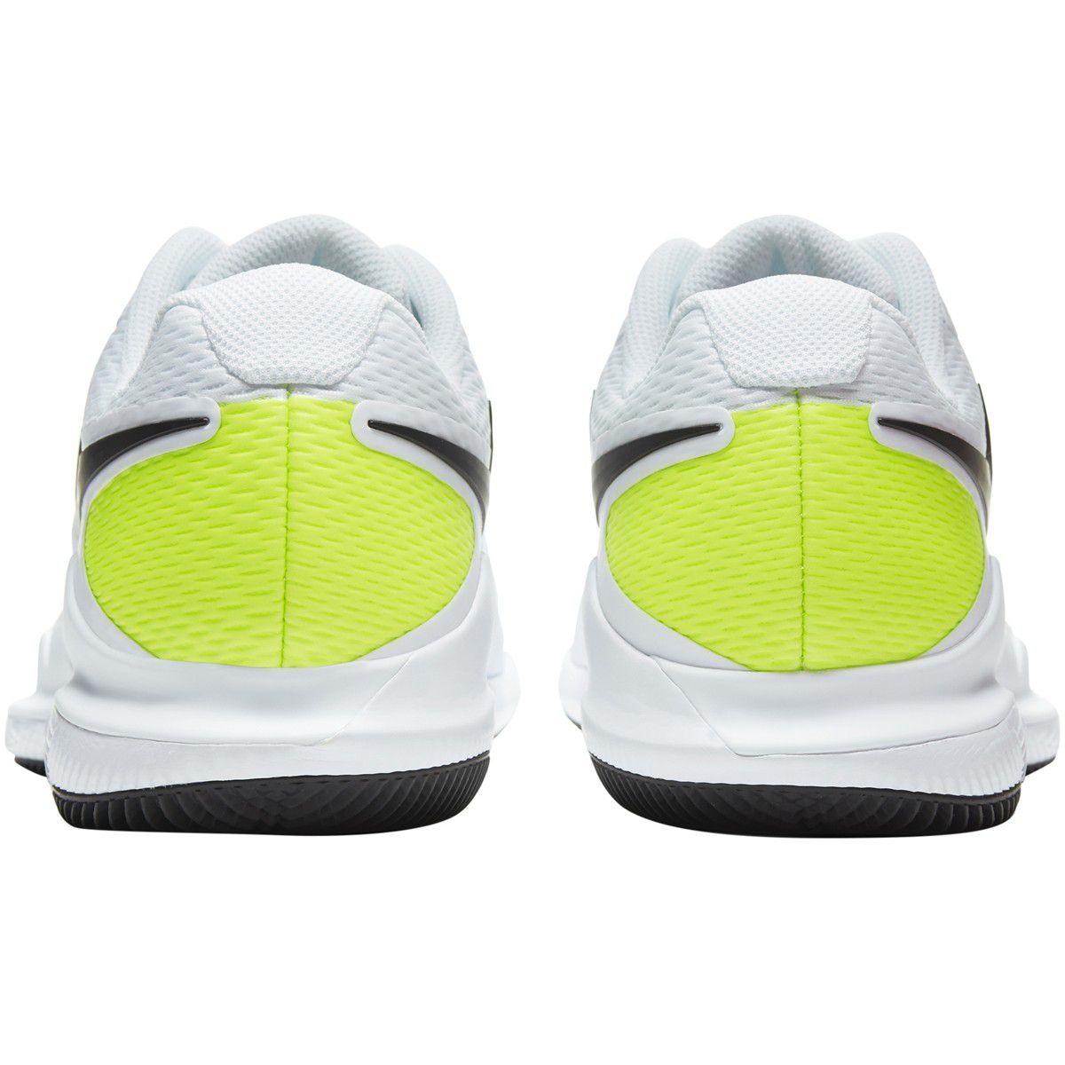 Tênis NikeCourt Air Zoom Vapor X HC - White/Black-Volt