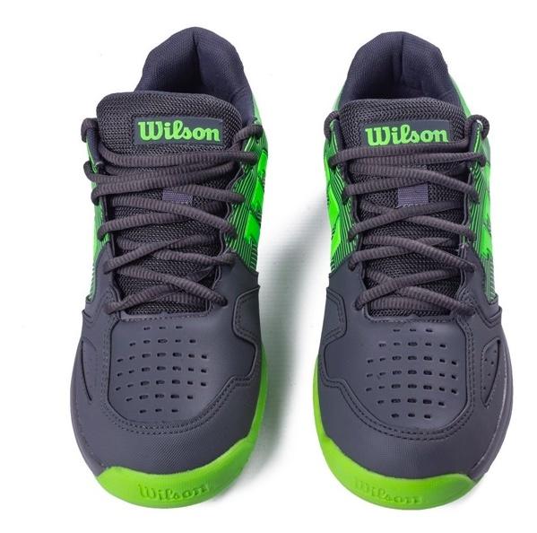 Tênis Wilson K Tour - Grafite/Verde Limão