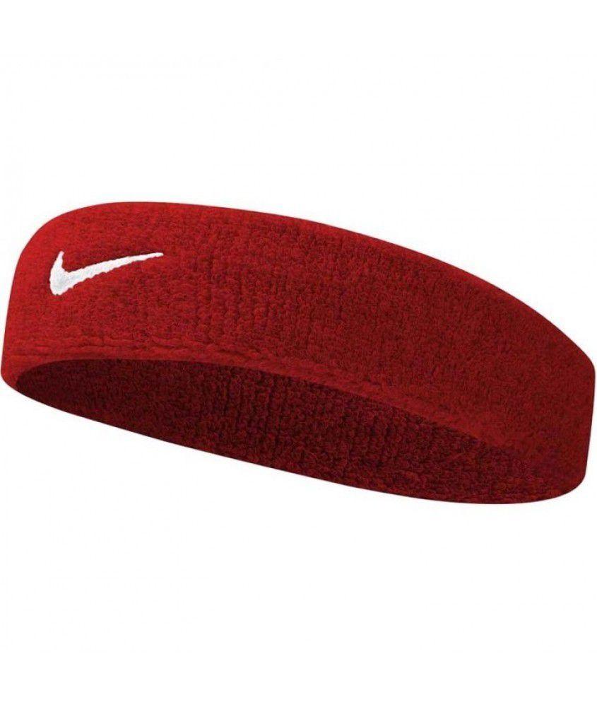 Testeira Nike Swoosh Vermelho com logo Branco