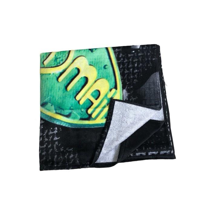 Toalha Mormaii Preta/Verde/Amarelo/Branco