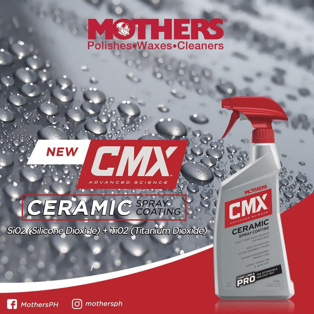 02 Vitrificador Cerâmico Spray Cmx 710ml Mothers
