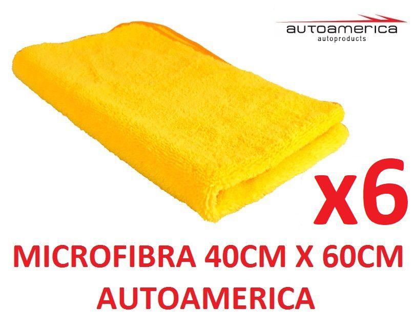 06 un Flanela Toalha Microfibra 40 X 60 Cm Autoamerica (sem embalagem / blister)