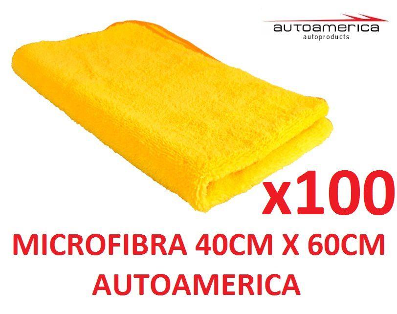 100 un Flanela Toalha Microfibra 40 X 60 Cm Autoamerica (sem embalagem / blister)