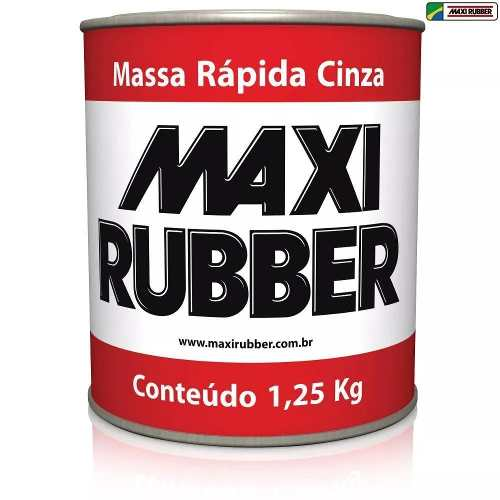 Massa Rapida Cinza 1,25 Kg Maxi Rubber 2ma001