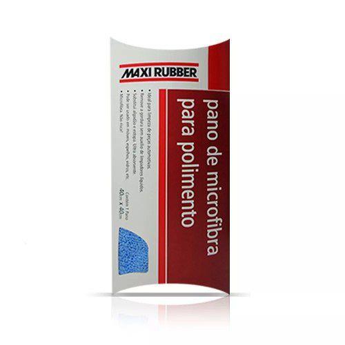 Pano Para Polimento Microfibra 40x40cm Maxi Rubber 8mp056