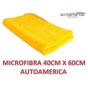 60 un Flanela Toalha Microfibra 40 X 60 Cm Autoamerica (sem embalagem / blister)