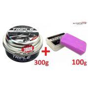 Cera Carnaúba Triple Paste Wax Autoamerica 300g Cristaliz + Clay bar Autoamerica 100g