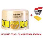 Cera Fusso Coat Soft99 Light Carros Cores Claras 200g Branca + 01 Flanela Toalha Microfibra 40 X 60 Cm Autoamerica (sem embalagem / blister)
