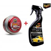Cera Meguiars Cleaner Wax Pasta Limpadora A1214 (ref:A1214)  + Cera Spray Ultimate Quik Wax Meguiars G17516 450ml