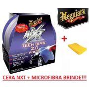Cera Nxt Tech Wax 2.0 Meguiars Pasta Roxa G12711 + Microfibra brinde