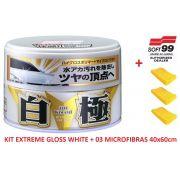 Cera Sintética Extreme Gloss White Soft99 Cores Claras + 03 microfibra 40x60 Autoamerica