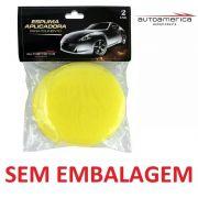Espuma Amarela Aplicador Cera C/ 02 Unidades Autoamerica S/e