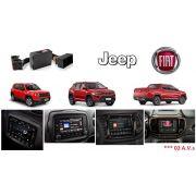 Interface de vídeo Fiat Jeep Compass / Renegade / Toro c/ 02 A.V.