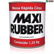 Kit 02 Massa Rapida Cinza 1,25 Kg Maxi Rubber 2ma001