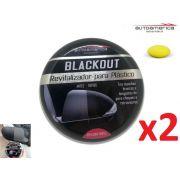 Kit 02 Revitalizador Para Plástico Automotivos Blackout Autoamerica 100g