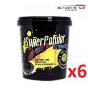 Kit 06 Massa De Polir Autoamerica Super Polidor (1kg)