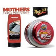 Kit 1 Cera Meguiars Cleaner A1214 + 1 Water Spot Remover for Glass Mothers