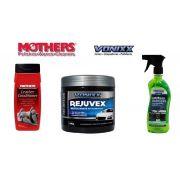 kit 1 Leather Conditioner Mothers + 1 Rejuvex + 1 APC Multiuso Vonixx
