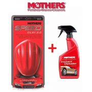 Kit 1 Speed Clay 2.0 Mothers Bar + 1 Instant Detailer Mothers 473ml