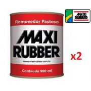 Kit 2 Removedor De Tinta Pastoso Maxi Rubber 1kg 900ml