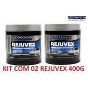 KIT C/ 02 Revitalizador De Plasticos Rejuvex 400g Vonixx