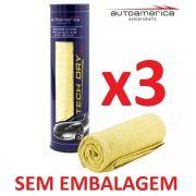 Kit c/ 03 Flanela Secagem Autoamerica Tech Dry Plus (70x40cm) Sem Emb.