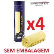 Kit c/ 04 Flanela Secagem Autoamerica Tech Dry Plus (70x40cm) Sem Emb.